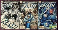 The Flash Blackest Night #1,2 & 3 complete series. DC 2009. NM condition.
