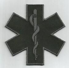 "Star of Life Patch Tactical SWAT Patch 3"" Paramedic Police Rescue Firefighter"