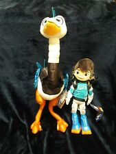 """New Miles from Tomorrowland 13"""" & Merc Plush Ostrich 20"""" Disney Store w Tags Lot"""