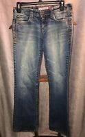 AEROPOSTALE HAILEY SKINNY FLARE Women's Jeans Distressed Size 3/4 Free Shipping!