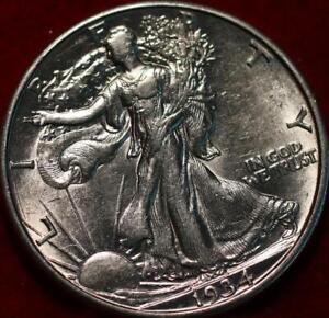 Uncirculated 1934-D Denver Mint Silver Walking Liberty Half
