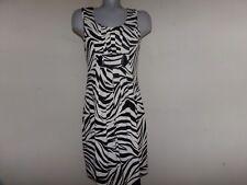 ENFOCUS STUDIO Cute Black & White Stretch Sheath Career Dressy Dress Size 8 EUC