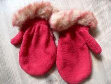 PAMPOLINA schöne Fleece Handschuhe mit Fellrand rot Gr. 92/104 TOP ST817