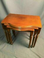 Bombay Company Nesting Tables Vintage Mahogany Color