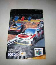 NINTENDO 64 N64 MRC MULTI RACING CHAMPIONSHIP INSTRUCTION BOOKLET NOTICE MANUEL