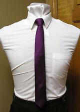skinny neck tie black, apple red, mint eggplant coral royal blue purple lapis