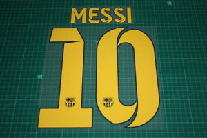 Flocage MESSI n°10 Barcelone patch Barcelona shirt maillot