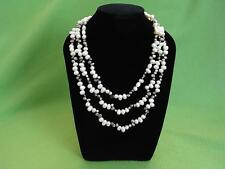 Long String 152cm Genuine Freshwater Pearl & Mabe Pearl Necklace Free Velvet Box