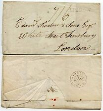 Portugal 1816 to Edward Swaine Finsbury London Foreign Wrapper