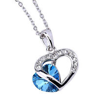 Zumqa 16050-1320 Heart Shaped Necklace with Blue Swarovski elements COD PAYPAL