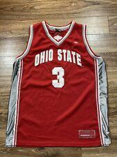Ohio State Buckeyes Red Sewn Mesh Colosseum Ncaa Basketball Jersey Sz Large