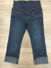 Ladies size 12 Blue SPECIAL ADDITION Maternity denim jeans -*Great Con* 7/8