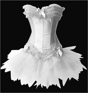 Sexy Burlesque Moulin Rouge Can Can Tutu Fancy Dress Costume Corset Outfit UK
