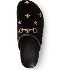Gucci Velvet Bee Slipper Embroidered Mule silder slipper 37