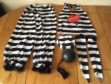 6 Piece Prisoner Of Love Fancy Dress Costume Inmate Jail Hen Women's One Size