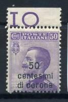 Venezia Giulia 1918 Sass. 27 Nuovo ** 100% Sovrastampati, 50 c