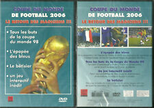 DVD - FOOTBALL : L' EPOPEE DES BLEUS COUPES DU MONDE 1998 ET 2006 / NEUF EMBALLE
