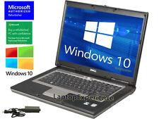 DELL LAPTOP LATiTUDE DUAL CORE 1.6GHz WINDOWS 10 CDRW DVD WiFi NOTEBOOK COMPUTER