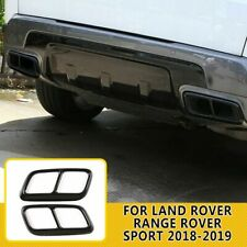 For Land Rover Range Rover Sport 2018-19 Steel Black Exhaust Mufflers Cover Trim