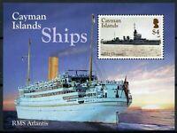 Cayman Islands Ships Stamps 2016 MNH HMS Dragon RMS Atlantis Nautical 1v M/S