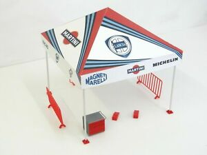 Rally Tent Scale 1:18 Sport Car Display for Cars Models Diorama Model Kit