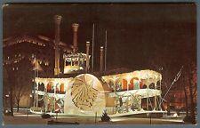 St Louis Mo Missouri ~ Memorial Plaza Yuletide Holiday display ~ 1950s postcard