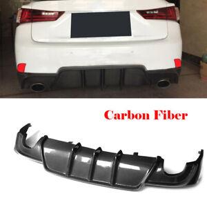 Rear Bumper Diffuser Lip Factory For LEXUS IS-F SPORT 2013-2016 Carbon Fiber