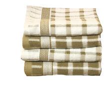 GRANDE SPUGNA Tea asciugamani Confezione da 4 Latte Macchiato & Bianco Verificato 76cm x 51cm