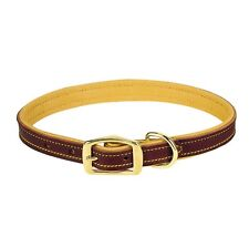 """Deer Skin leather Collar for Dogs - 5/8"""" - 3/4"""" - 1"""" - fully lined"""