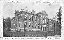 Geneva Ohio 1910 Postcard Graded School Building