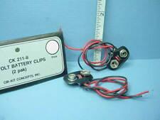 Dollhouse Miniature 9 Volt Battery clips (2pk) #CK211-8 Cir-Kit Concepts