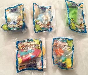 1998 Burger King Rugrats Complete Set of 5 Mint In Package