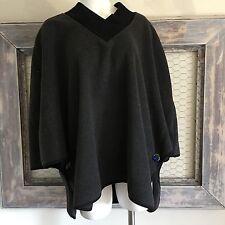 Fenn Wright Manson Cape Jacket Coat Fleece Gray 1X XL Women's