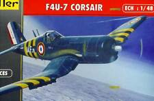Heller - Vought F4U-7 Corsair Francia 1956 Blu Marino Francese 1:48 Modello Kit