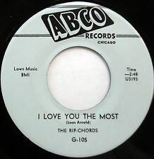 The RIP CHORDS 45 I Love You The Most / Let's Do...ABCO label DOO WOP e4585