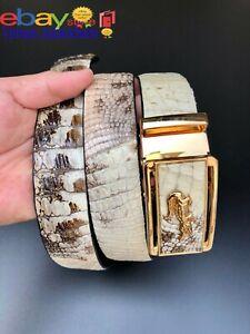 Very Unique Men's Belt - Genuine NATURAL Crocodile Skin- Handmade Belt-DL28