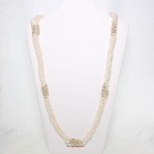 Combinations Design 6 In One White Rice Pearl & Rose Quartz Twist Necklace TPJ