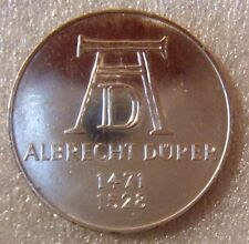 GERMANY GDR 1971 D 5 DEUTSCHEMARK  ALBRECHT DURER SILVER COMMEMORATIVE BU