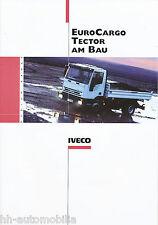 Prospetto Iveco Euro Cargo Tector costruzione 11 02 brochure 2002 Camion Veicolo cantieri