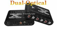 New DTS/AC3 Dual-Optical SPDIF to 5.1-Analog Audio Dolby Gear Sound Decoder