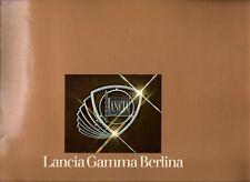 Lancia Gamma Berlina 1976-78 Export Markets Sales Brochure In English