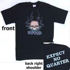 Zz Top! Skull Expect No Quarter & Skull Blk T-Shirt Small New