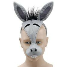 Donkey Face Mask Animal Fancy Dress Costume Accessory With Sound Effect FX P1595