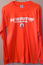 "NEW Illini ""Real Fans Wear Orange"" LS T Shirt Small"