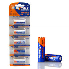 PKCELL 5Pcs 27A 8LR732 A27 27A L828 G27A 12V Alkaline Battery Fr Doorbell Remote
