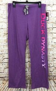 Duck Dynasty pajamas pants womens large 11/13 purple new juniors lounge J8