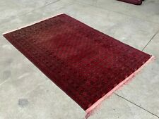 Handmade Afghan Red Bokhara Carpet Indoor tribal rug Persian