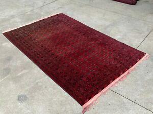 Handmade Afghan Red Bokhara Carpet Indoor tribal rug Persian