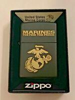 Zippo Bradford Marines Matte Lighter New In Box MAD in USA