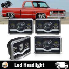 "77-81 PONTIAC FIREBIRD TRANS 4x6"" LED HEADLIGHT HIGH LOW BEAM DRL HEAD LAMP 4PCS"